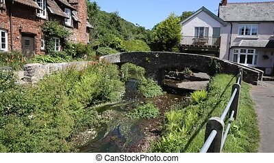 Pack horse bridge Allerford Somerse - Picturesque pack horse...