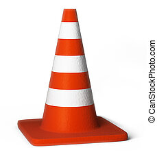 traffic cones - Traffic cones. 3d image. Isolated white...