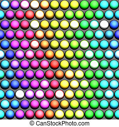 a rainbow of balls - seamless pattern of marble spheres in...