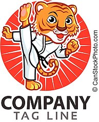Taekwondo Tiger Logo.eps - Vector Illustration of Cute...