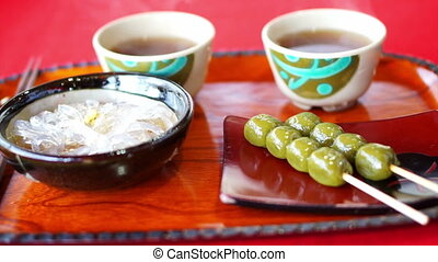 Traditional Japanese dessert tea - Video of Japanese Kyoto...