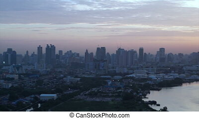 Bangkok, Thailand sunrise skyline - Bangkok, Thailand...