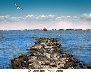 Chesapeake Bay Lighthouse - Lighthouse on the Chesapeake Bay...