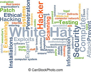 White hat background concept - Background concept wordcloud...