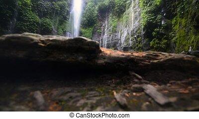 Green Mildewed Cliff Waterfall Doll - Beautiful waterfall on...