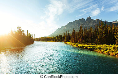 Banff National Park - Castle Mountain in Banff National...