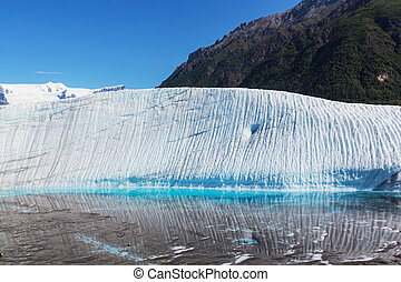 Kennicott glacier - Lake on Kennicott glacier,Wrangell-St...
