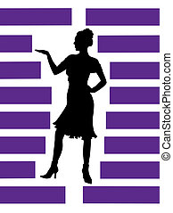 silhouette of girl - silhouette of girl in the manner of...