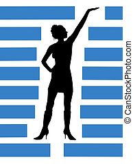 silhouette  of girl  in the manner of   sidebar