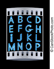 Wooden Alphabet set The film strip - Wooden Alphabet set on...