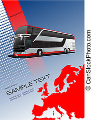 City bus. Colored Vector illustration for designers