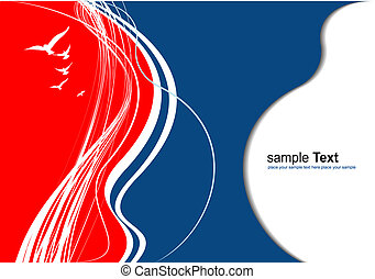 Red blue abstract  background. Colored Vector illustration