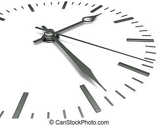 Concept of time - Clock face with arrows, close-up on a...