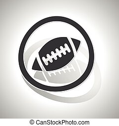 Rugby sign sticker, curved, with outlining and shadow