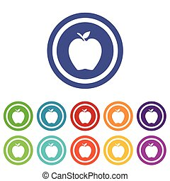 Apple signs colored set