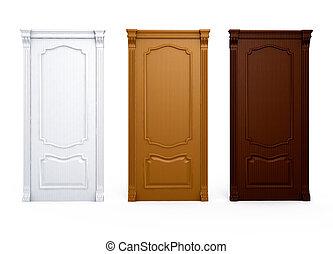 door wooden house interior detail