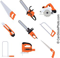 Collection of saw icons - Vector image of a collection of...