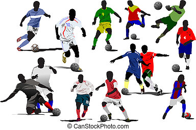 Soccer players Vector illustration