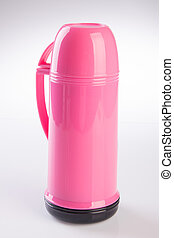 Thermo flask on background - Thermo flask on the background