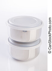 food containers on the white background - food containers on...
