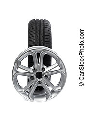 Set of wheels and tires for the car.