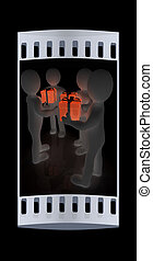 3d mans gives gifts The film strip - 3d mans gives gifts on...