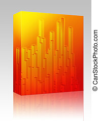 Abstract geometric shapes box package - Software package box...