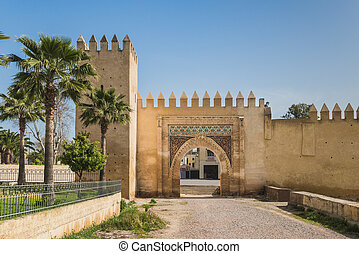 Bab Lamar is the old gate in Fes, Morocco - Bab Lamar the...