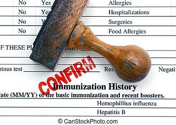 inmunización, historia, confirm, ,