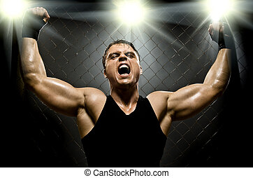 fighter - photo muscular young guy street-fighter,...
