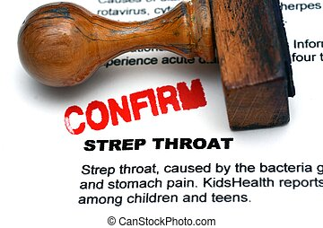 Strep throat confirm
