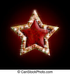 Christmas star - beautiful Christmas star on dark...
