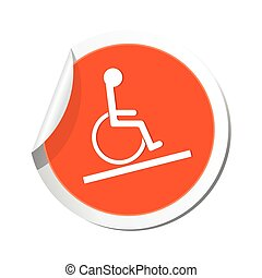 Map pointer with handicap icon