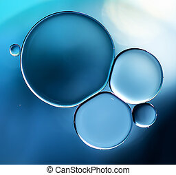 Abstract background blue - Abstract background, blue oil...