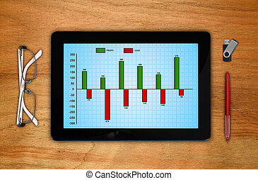 analytical schedule - digital touch pad with analytical...