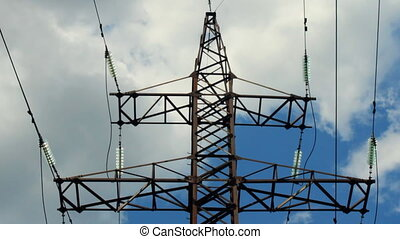 electricity pylon - High voltage transmission tower