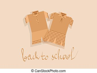 school uniform. abstract siltouette of elementary school...