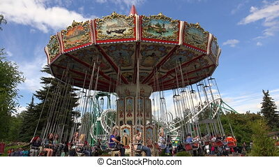 Extreme attraction. Carousel.