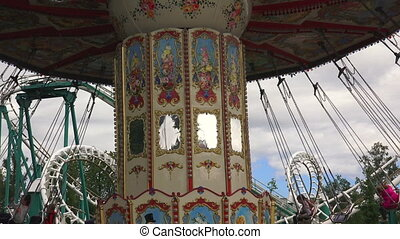 Extreme attraction Carousel Shot in 4K ultra-high definition...