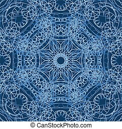 lace doily - Hand drawn background with a beautiful vintage...
