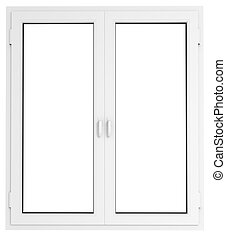 Plastic window - Closed plastic window template model with...