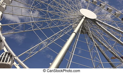 Ferris wheel. Shot in 4K (ultra-high definition (UHD)), so...