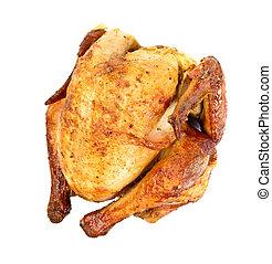 Roast Chicken - Grilled roast chicken over white