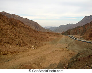 road in the Sinai mountains