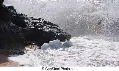 Dangerous waves in slow motion.