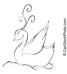 image of an swans