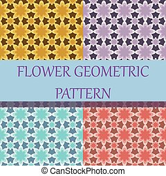 Flower Geometric Background Pattern