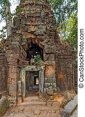 Cambodia Ancient Khmer architecture in jungle