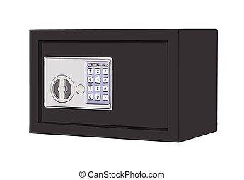 black safe