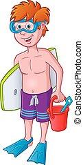 Kid Ready for the Beach